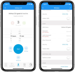 Réseau invité amplifi hd application mobile iOS