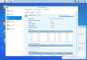 Synology-DS920-Gestionnaire-Stockage